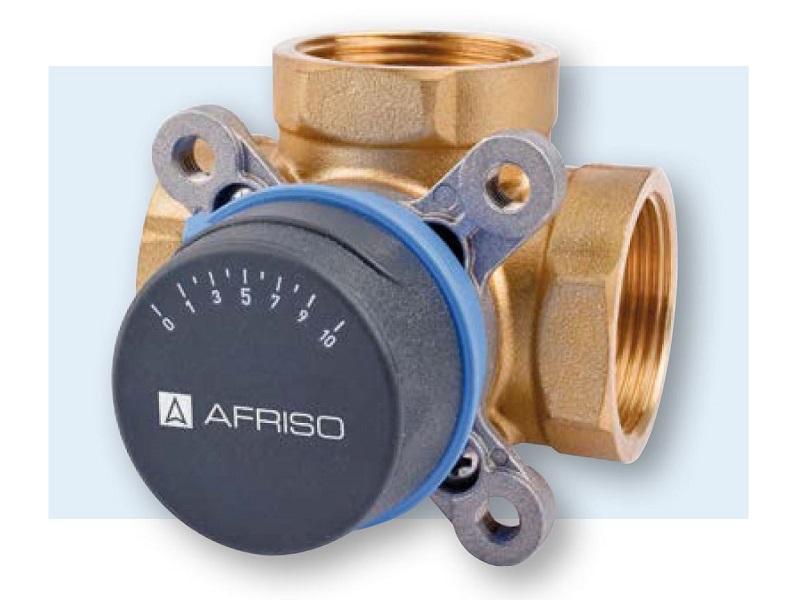 """Afriso 3-Wege-Mischventil / Motormischer ARV 384, DN 25 mit 3 x 1"""" IG, 12 m³ / h, ohne Mischermotor"""