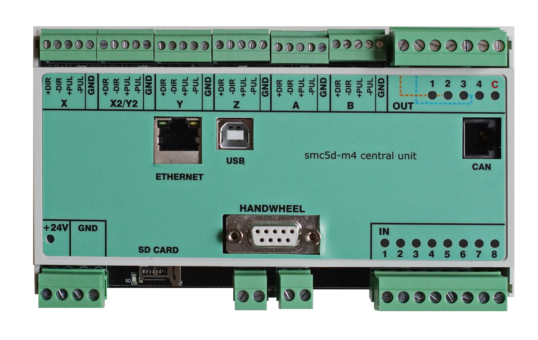 ISP Motion Control inkl. Zentraleinheit V5 / M4 ( CPU ) im Hutschienengehaeuse