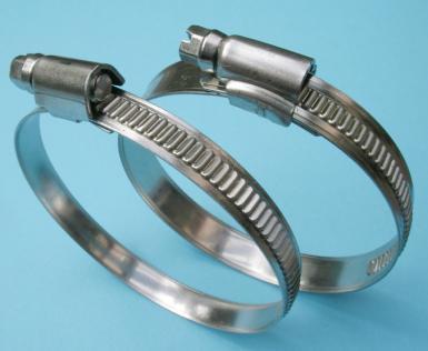 Schlauchschelle W1 Stahl verzinkt, 12 mm Bandbreite, Spannbereich 250-270 mm