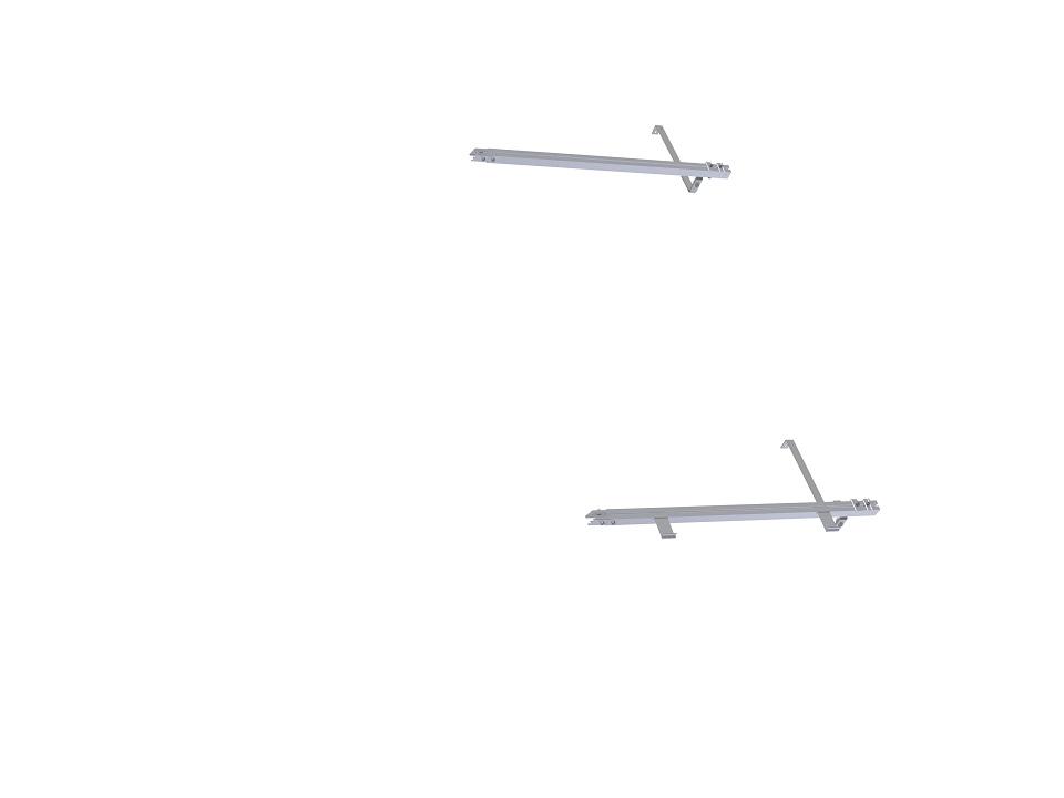 Ziegeldach - Montagesystem für 1 weiteren Solarkollektor KS 2600 F TLP ACR