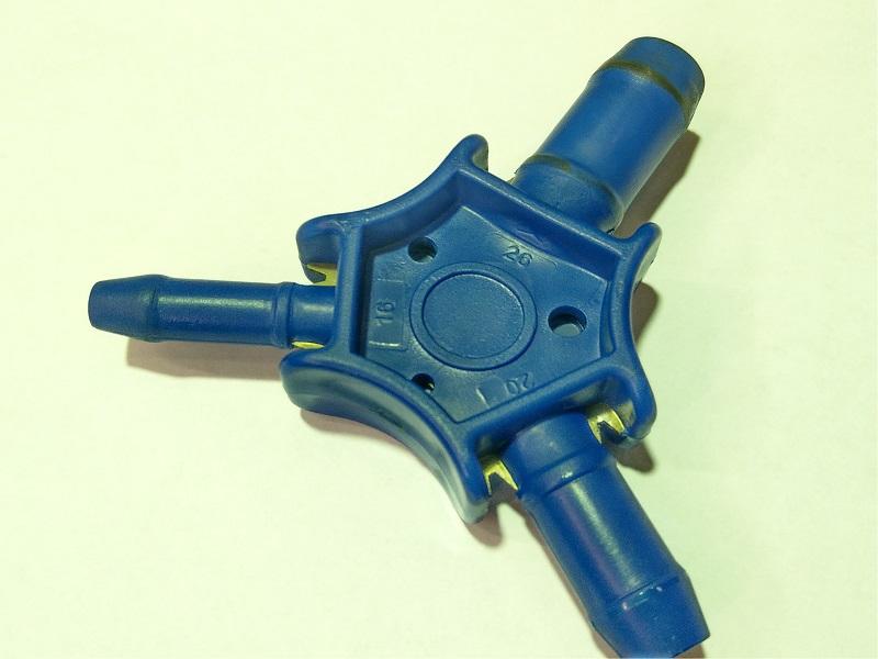 Rohrkalibrierer innen / außen für Kunststoff- oder Mehrschichtverbundrohre 16 x 2, 20 x 2 und 26 x 3