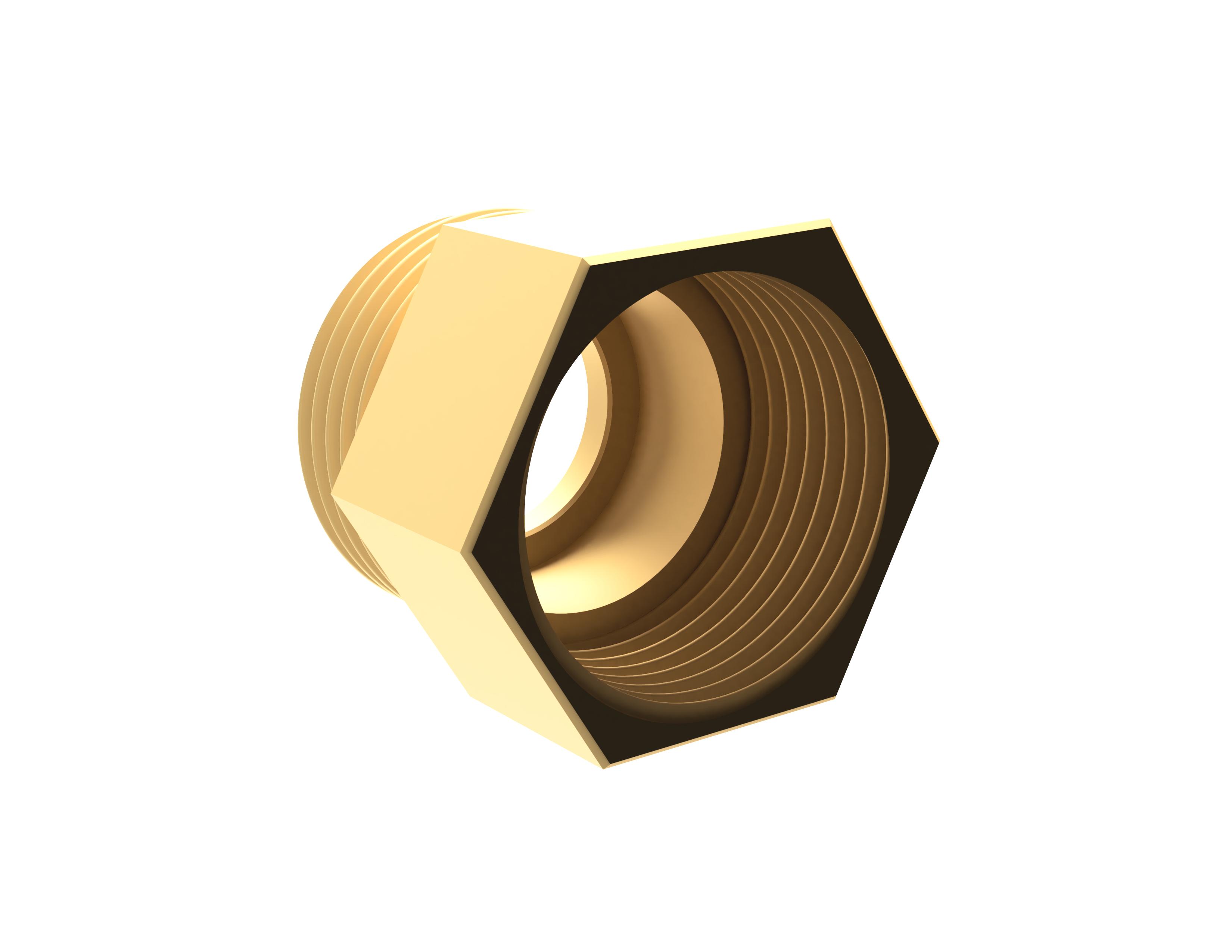 """Messing - Muffennippel 1"""" IG x 1"""" AG, für Einlegeschwerkraftbremse geeignet"""