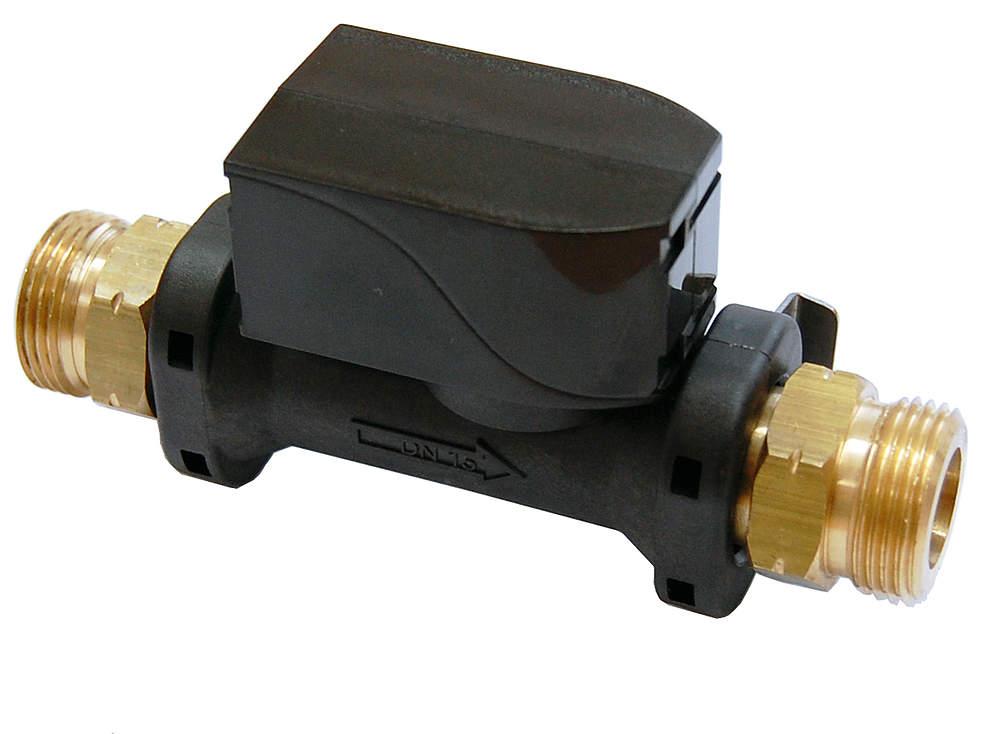 "Technische Alternative Elektronischer Volumenstromsensor 4 - 50 l / min, 3/4"" AG, Länge: 130 mm"