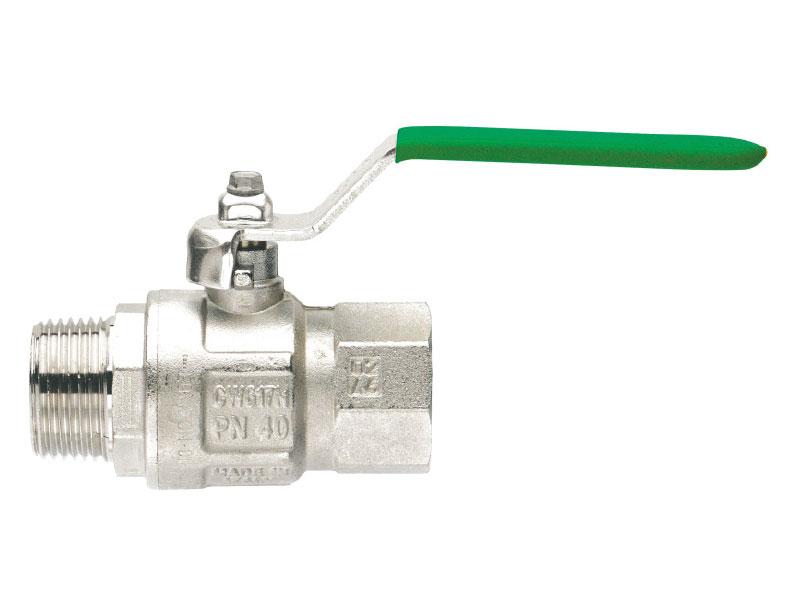 Kugelhahn mit Hebelgriff 1 1/2'' IG x AG für Heizung und Trinkwasser