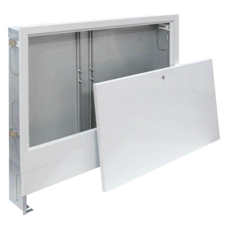 Unterputz - Verteilerschrank - Farbe weiß - für 11 - 13 Heizkreise 110 mm tief