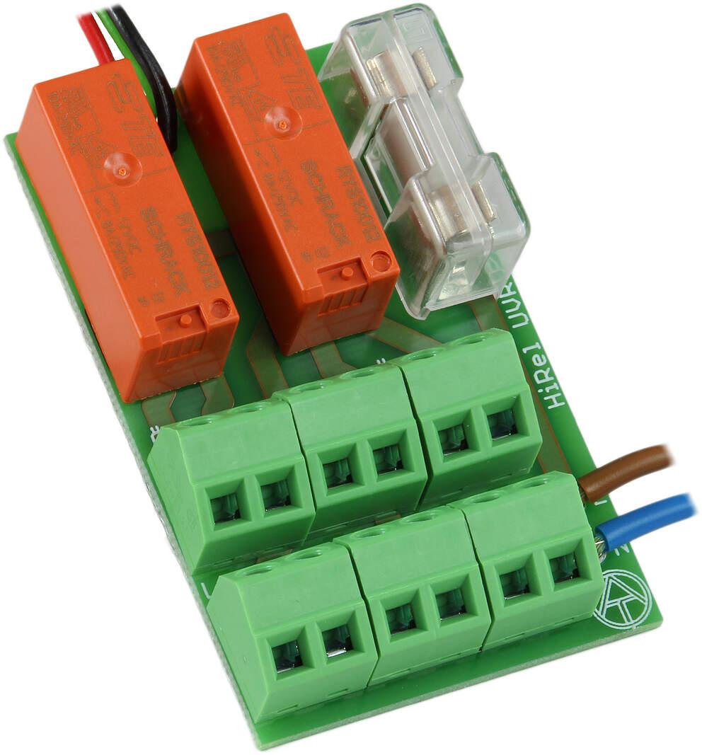 Technische Alternative HIREL-230V, Relaismodul 230V mit Stromverteiler