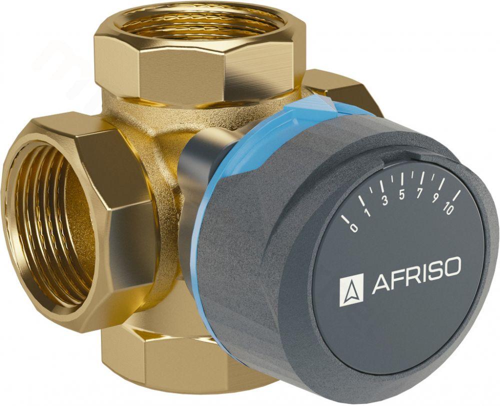 """Afriso 4-Wege-Mischventil / Motormischer ARV 484, DN 25 mit 3 x 1"""" IG, 12 m³ / h, ohne Mischermotor"""