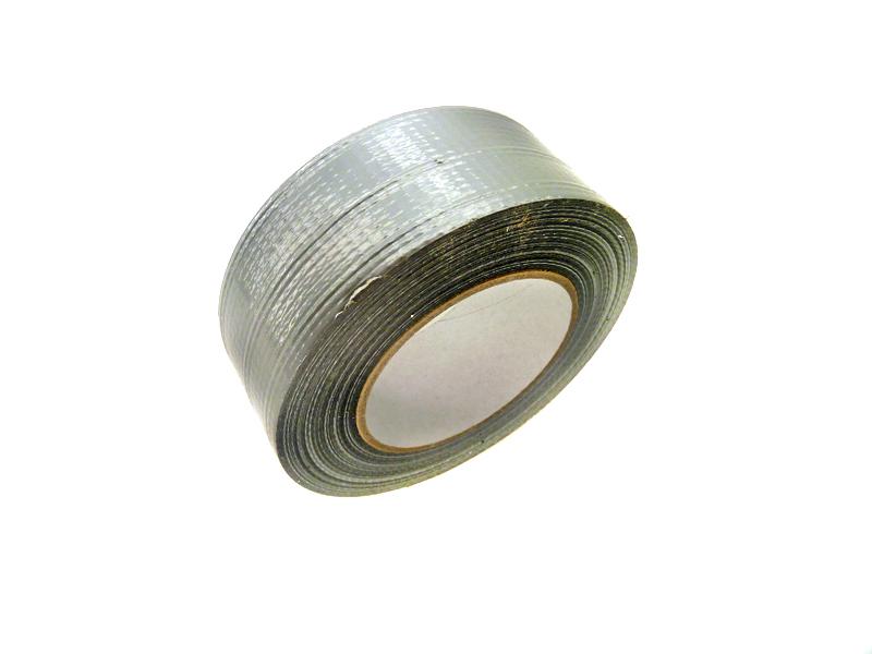 1 Rolle Gewebeklebeband - Breite 50 mm - Stärke 0.3 mm - Länge 50 m - Farbe silber