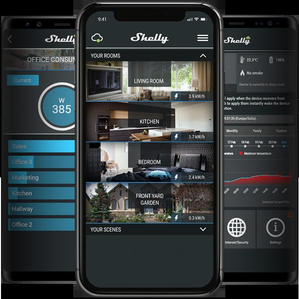 Shelly 1 PM, Schaltaktor mit Messfunktion, 16A, WiFi Relais, WLAN Schalter, Alexa und Google Home