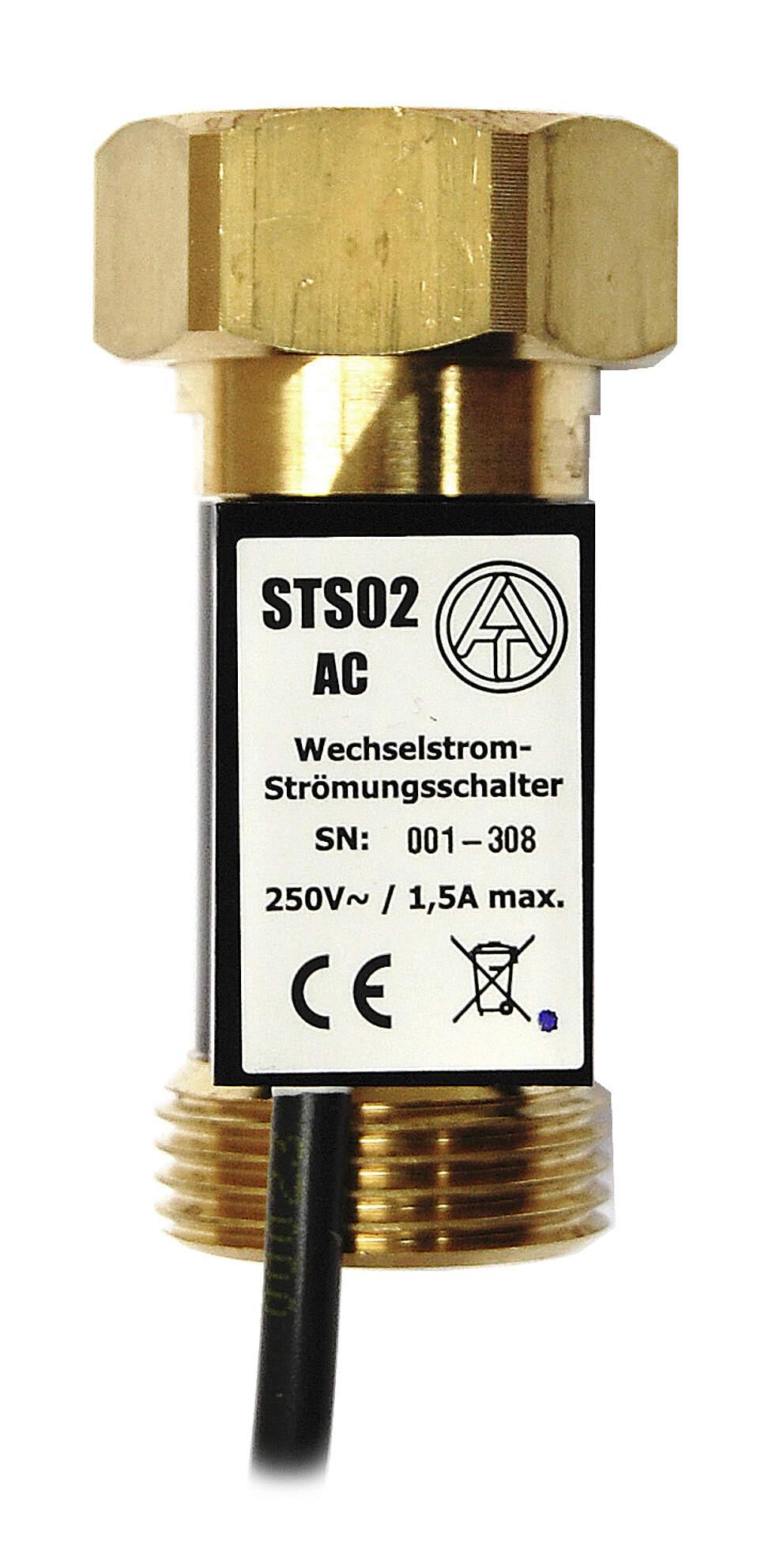 """TA Strömungsschalter STS01AC, 3/4"""" Überwurfmutter x 3/4"""" AG, zum direkten Schalten von Asynchronpumpen am 230 V~ Netz bis 1,5 A"""