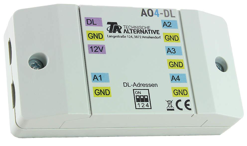 Technische Alternative DL-Erweiterungsmodul für 4 Analogausgänge