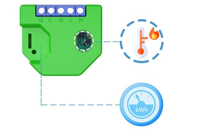 Shelly Dimmer 2 WiFi-gesteuerter Dimmer 110 - 230 V AC, mit Messfunktion, auch für LED, Alexa und Google Home