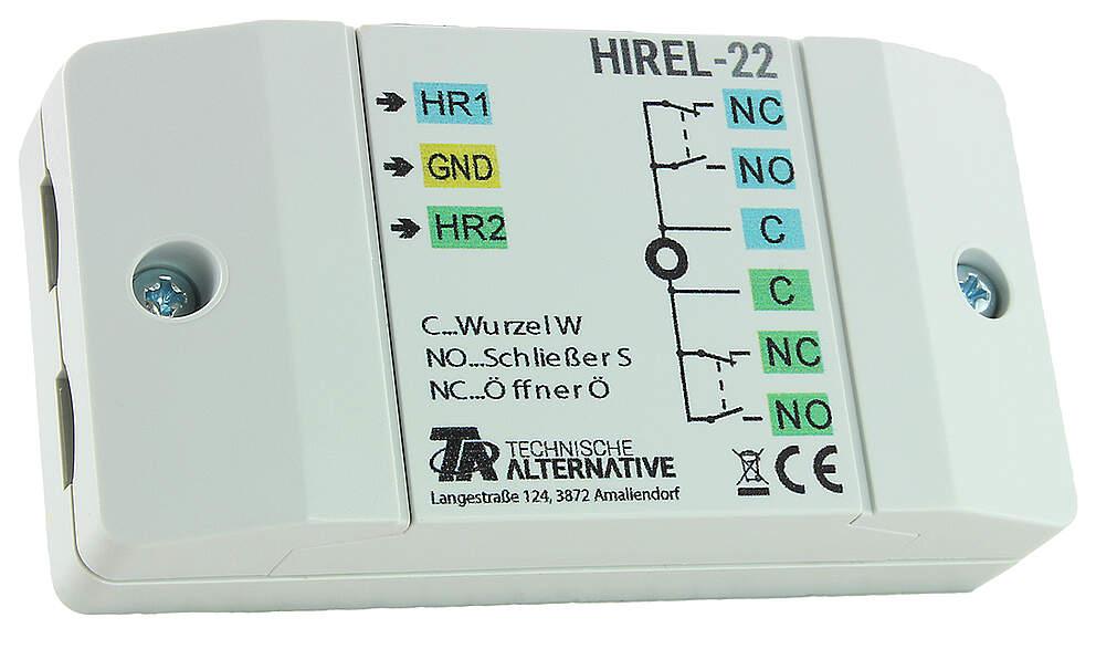 Technische Alternative HIREL-22 Relaismodul mit 2 Kontakten