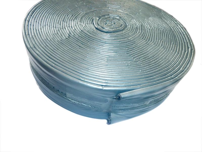 1 Meter Schutzschlauch DN125, Isolierschlauch Innendurchmesser 150 mm, Dämmschichtstärke 4 mm (Zuschnitt)