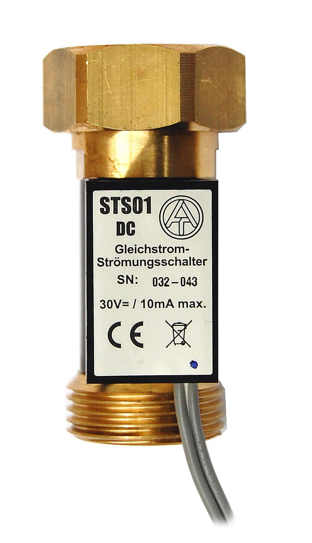 """TA Strömungsschalter STS01DC, 3/4"""" Überwurfmutter x 3/4"""" AG, Gleichstromversion als Signalgeber an üblichen Regeleingängen bis 30 V max. 10 mA"""
