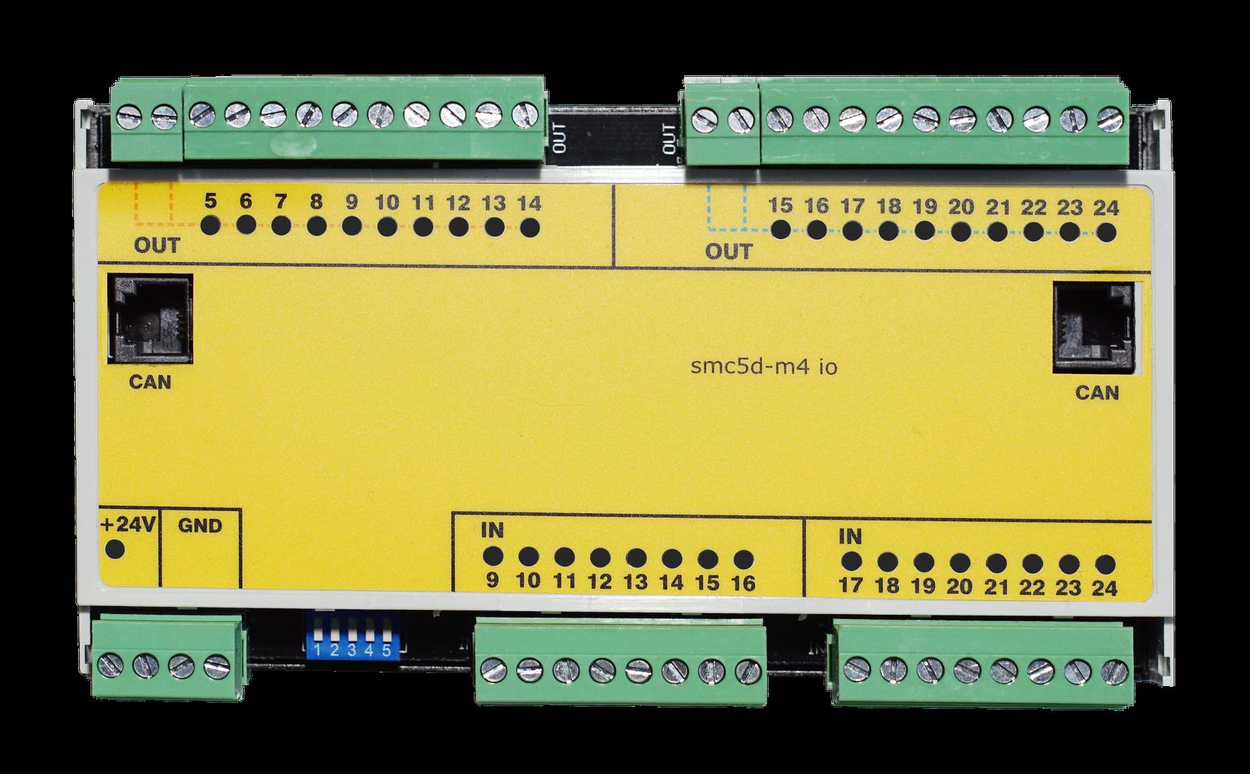 ISP Erweiterungsmodul M4 Digial IO CAN-Bus im Hutschienengehaeuse